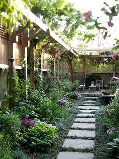 Great way to add a little privacy to a yard on a corner lot. I love the cozy feel this garden has.