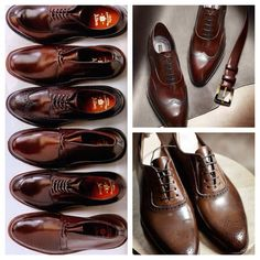 Alden wingtips, boots and chukka boots.