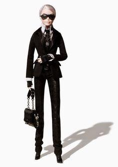 Brilhos da Moda: Barbie Karl Lagerfeld
