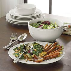 Staccato Serving Bowl | Crate and Barrel