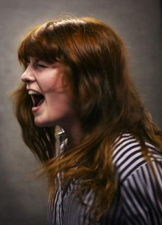 "Florence Welsh of ""Florence & the Machine"" rehearsing at John Henry's in London. Photo by Jill Furmanovsky."