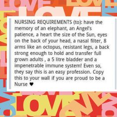 Just because nursing is my calling and I love it.does not mean it is easy! Nurse Love, Rn Nurse, Nurse Stuff, Baby Nurse, Hospice Nurse, Hello Nurse, Medical Humor, Nurse Humor, Medical Facts