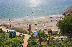 Playa Carabeo, Nerja, Spain Nerja Spain, Cosy, Beaches, Dolores Park, Travel, Viajes, Traveling, Trips, Tourism