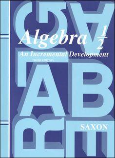 Algebra 1/2 3ED - for pre-Algebra studies