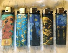 Made some Van Gogh lighters