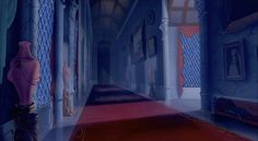 corridoor still inside the castle showing perspective, from Beauty & The Beast