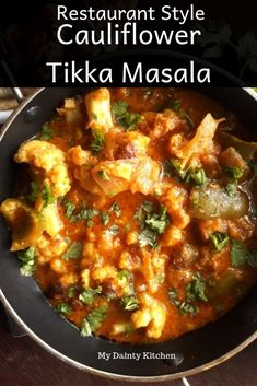 Cauliflower tikka masala or gobi tikka masala is a rich and creamy curry. Read how to make gobi tikka masala and with it's vegan version. Gobi Recipes, Curry Recipes, Indian Food Recipes, Healthy Recipes, Vegan Tikka Masala, Tikka Masala Sauce, Vegan Cauliflower, Indian Cauliflower, Cauliflower Recipes