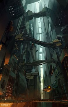 Sci-fi Art: Bridges - 2D Digital, Concept art, Sci-fiCoolvibe – Digital Art