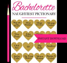 Dirtiest Pictionary  Bachelorette Party by SparklingEverAfters