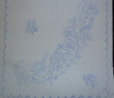 Hungarian stamped embroidery pattern Kalocsa style by lmntlcrafts, $7.50