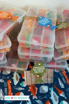 Tackle box favors filled with goldfish, swedish fish, gummy worms and plastic bobbers. Boys First Birthday Party Ideas, Birthday Themes For Boys, Baby Boy First Birthday, 4th Birthday Parties, Frozen Birthday, Party Themes For Kids, 5th Birthday Ideas For Boys, Tackle Box, Birthday Party Favors