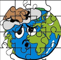 puzzle Earth Day Activities, Preschool Activities, Drawing For Kids, Smiley, Puzzles, Smurfs, Classroom, Drawings, Geography
