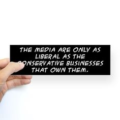 the media... Bumper Bumper Sticker on CafePress.com