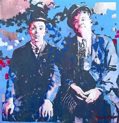 Stan Laurel & Oliver Hardy Acrylic on Wood Stan Laurel Oliver Hardy, Laurel And Hardy, Wood, Fictional Characters, Art, Art Background, Woodwind Instrument, Timber Wood, Kunst