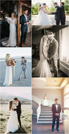 bride and groom first look wedding photo ideas #weddingideas #weddingphotos