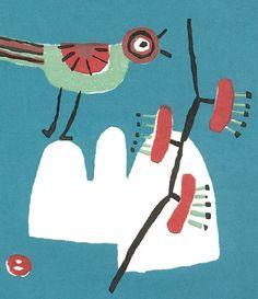 Umetaro Azechi ~ Bird With Cherry Branch