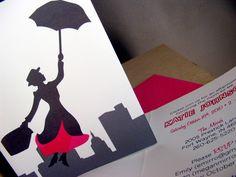 Mary Poppins Party Invitations,