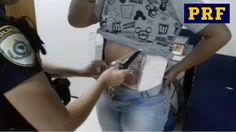 PRF prende mulher com cocaína presa ao corpo