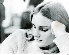 This is a picture of newspaper heiress Patricia Hearst, taken by another student, when Patty was studying in the Bowman Library on the campus of Menlo School and College, where she spent her freshman year of college in 1971 and 1972. AP Photo: AP / SF