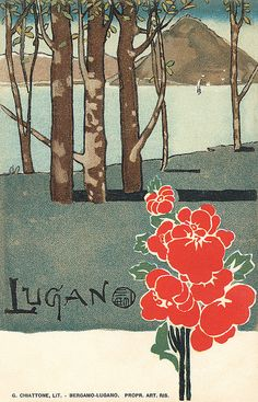 Lugano postcard by totallymystified, via Flickr