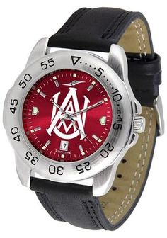 Alabama A & M Men's Leather Band Sports Watch