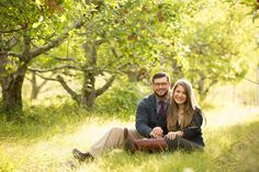 Hudson Valley Engagement Session Apple Orchard