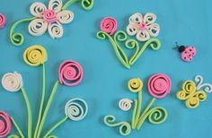 Quilling with Fondant. Something I will be practicing this weekend.