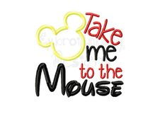 Take Me to the Mouse Applique Embroidery by HoopMamaEmbroidery