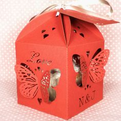 Butterfly Cupcake Box