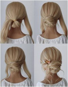 Check out our wedding hairstyles tutorial videos selection for the very best in unique or custom, handmade pieces from our shops. Medium Hair Styles, Curly Hair Styles, Hair Medium, Bridal Hair Tutorial, Bridesmaid Hair Tutorial, Simple Bridesmaid Hair, Chignon Tutorial, Wedding Bridesmaids, Diy Wedding Hair