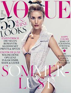 Rosie Huntington-Whiteley en Vogue Alemania Junio 2014