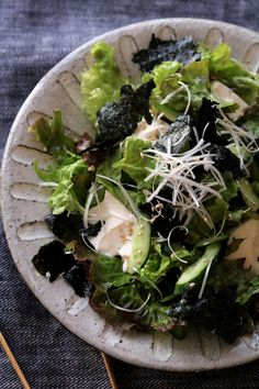Vegetable Sides, Vegetable Salad, Diet Recipes, Cooking Recipes, Healthy Recipes, Asian Recipes, Ethnic Recipes, Food Menu, Japanese Food