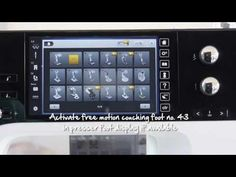 BERNINA accessories -- couching foot no. 43 - YouTube