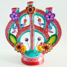 Mexican Tree of Life Art | Mexican Tree of Life Candleholder