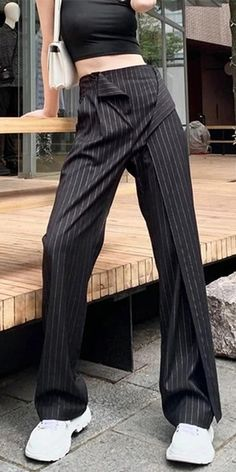 Women Elastic Waist 2020 Winter Full Length Pants Casual Style Elegant Minority Style