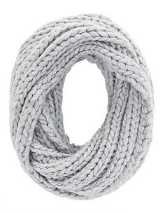 Chunky Cable Knit Infinity Scarf: Charlotte Russe