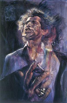 ☆ Keith Richards :¦: By Artist Sebastian Krüger ☆