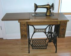 Antique Singer Sewing Machine (My earliest memory is of my wonderful mother sitting at her Singer Sewing Machine sewing)