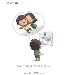 """""""L'amore è... non vedere l'ora di vederti."""""""