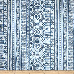 Premier Prints Indoor/Outdoor Devada Cobalt from @fabricdotcom  Screen printed on cotton duck; this versatile medium weight fabric is perfect for window accents (draperies, valances, curtains and swags), accent pillows, duvet covers and upholstery. Create handbags, tote bags, aprons and more. *Use cold water and mild detergent (Woolite). Drying is NOT recommended - Air Dry Only - Do not Dry Clean. Colors include blue and white.