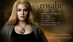 #TwilightSaga #NewMoon - Rosalie Hale