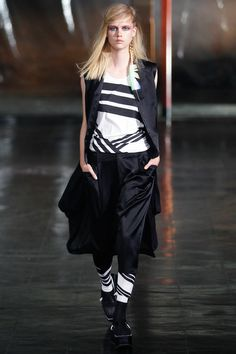 3 Looks: my #NYFW picks from Y-3. Yamamoto collaborated on watery tie-dyed prints and Adidas' triple stripes with graphics master Peter Saville for an avant-garde take on the sports wardrobe.