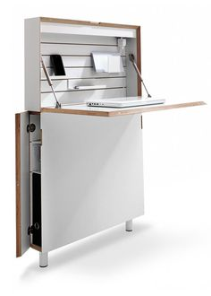 flatmate-desk - great for studio living when you need to get the workspace out of the living room!