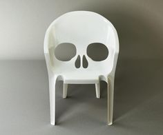 Skull chair.... how cool would this be for outside chairs!!!!!