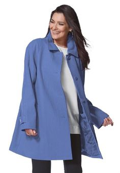 Woman Within Plus Size Coat, A-line in wool-blend for only $99.99 You save: $50.00 (33%)