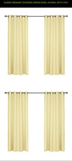 """Gazebo Grommet Outdoor Curtain Panel, Natural 50""""W X 96""""L #fpv #plans #technology #gazebo #camera #outdoor #products #kit #parts #racing #window #by #gadgets #shopping #natural #panel #decor #tech #drone #96 #50 #indoor #outdoor"""