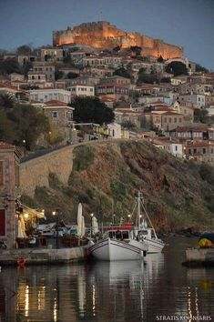 Molyvos town of Lesvos Island of Hellas Beautiful Islands, Beautiful World, Beautiful Places, Cool Places To Visit, Places To Travel, Places To Go, Travel Destinations, Greek Island Tours, Places Around The World
