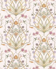 Potagerie by The Chateau by Angel Strawbridge - Multi-coloured - Wallpaper : Wallpaper Direct Cream Wallpaper, Old Wallpaper, French Wallpaper, Angel Adoree, Angel Strawbridge, Wallpaper Please, Pretty Wallpapers, French Cottage, French Country Decorating