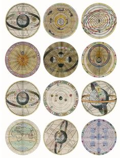 Star maps Antique Celestial circles, Astronomical Charts