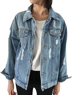 Sunmoot Women Winter Long Hooded Denim Jacket Coat Long Sleeve Jean Warm Outwear Overcoat with Pockets